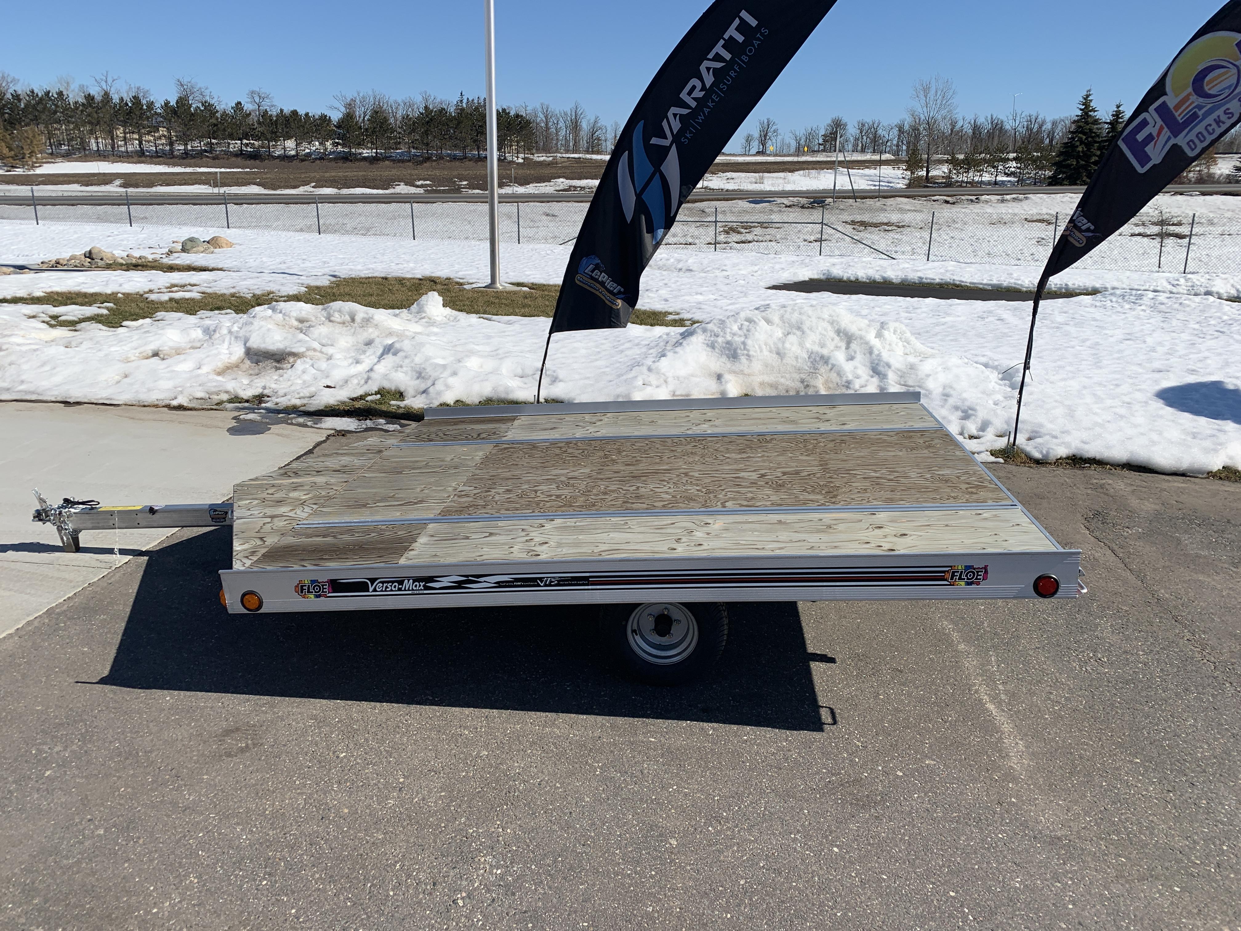 Floe Versa-Max Snowmobile Trailer 10' Ramp | Stock # 0139 on trailer hitch harness, trailer generator, trailer brakes, trailer plugs, trailer fuses, trailer mounting brackets,