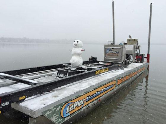 barge dock installation