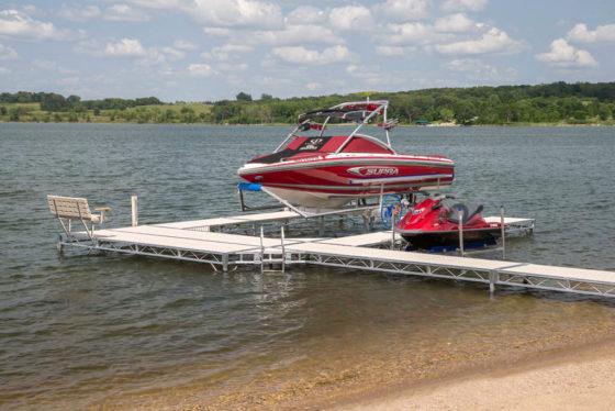 ushape-dock-boat-lift